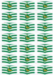 Wiltshire Flag Stickers - 21 per sheet